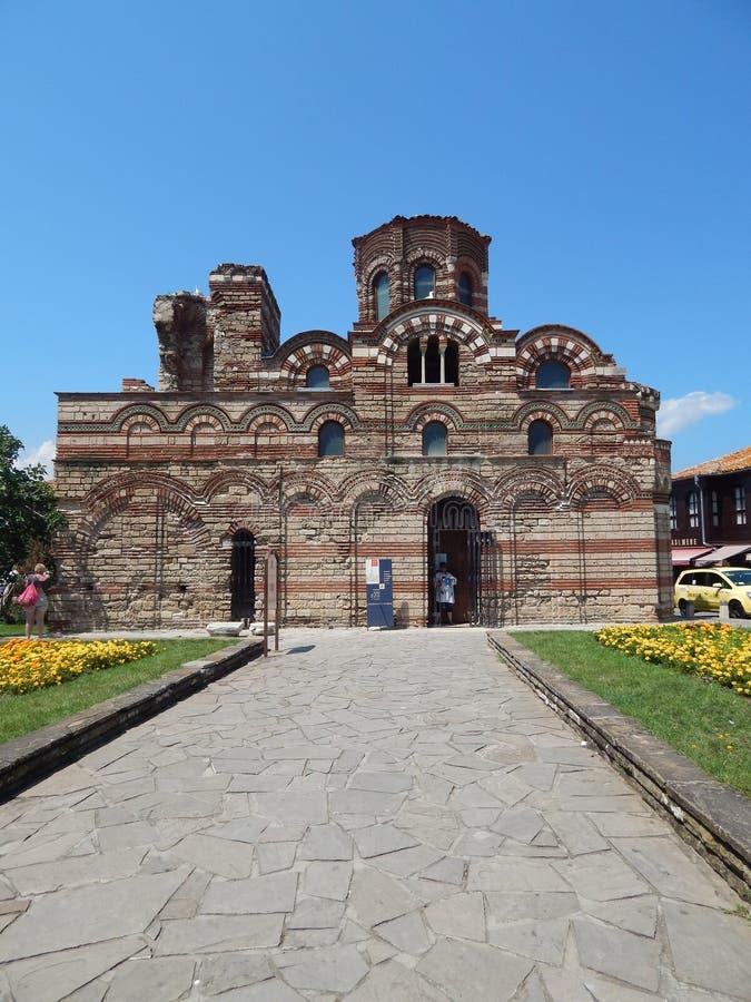 De Kerk van Christus Pantocrator in Nessebar, Bulgarije royalty-vrije stock fotografie