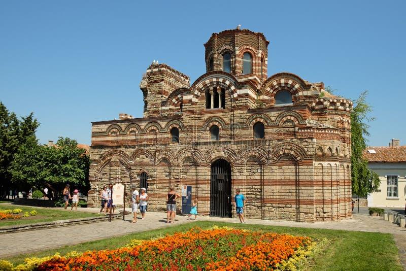 De Kerk van Christus Pantocrator in oude stad van Nessebar, Bulgarije royalty-vrije stock foto