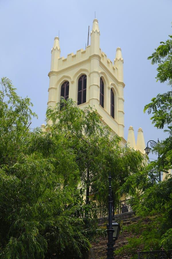 De Kerk van Christus, Shimla De bouw, India stock afbeeldingen