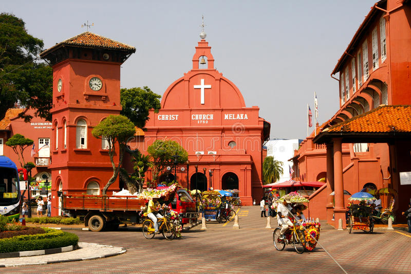 De kerk van Christus van Malacca royalty-vrije stock foto