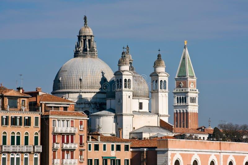 De kerk van de dellaBegroeting van Santa Maria in Venetië stock afbeeldingen