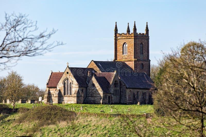 De Kerk van de Hanburyparochie, Worcestershire, Engeland royalty-vrije stock afbeelding