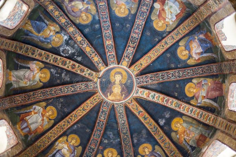 De Kerk van de Heilige Verlosser in Chora, zesi ¼ van Kariye MÃ stock fotografie
