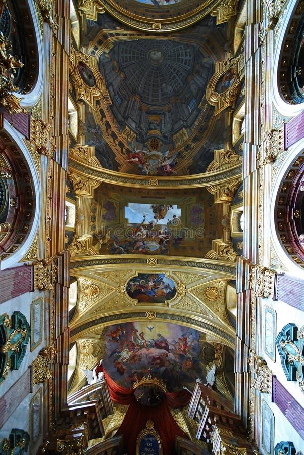 De kerk van de Jezuïet, Wenen stock foto