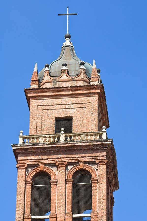 De kerk van de klokketoren van Ferrara. Italië. royalty-vrije stock afbeeldingen