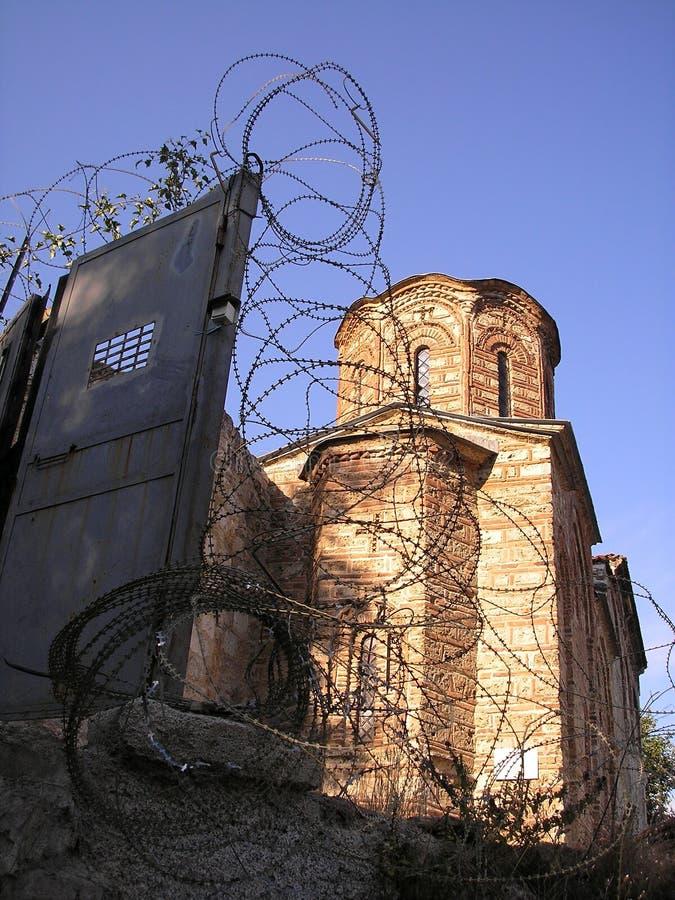 De Kerk van de Kuuroorden van Sveti in Prizren, Kosovo stock afbeelding