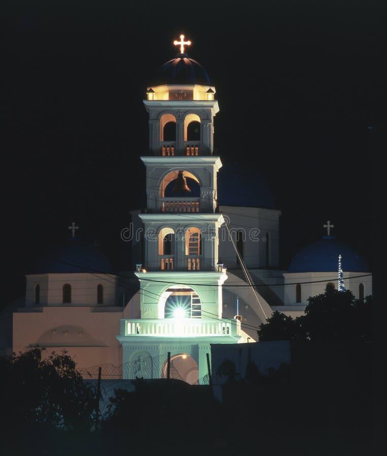 De kerk van de nacht royalty-vrije stock foto
