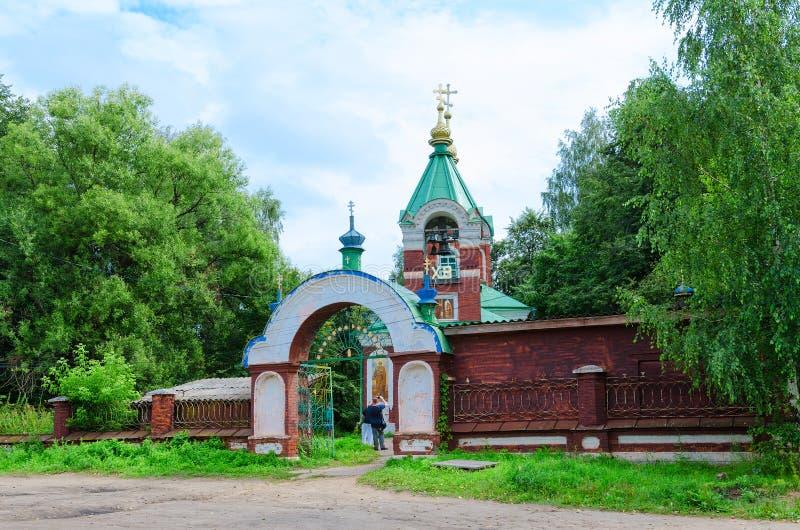 De Kerk van de Vvedenskayakerk van Presentatie van Moeder van God in Tempel, Kalyazin, Rusland royalty-vrije stock foto