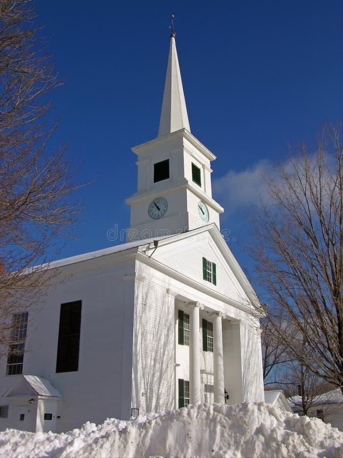 De Kerk van de winter royalty-vrije stock afbeeldingen