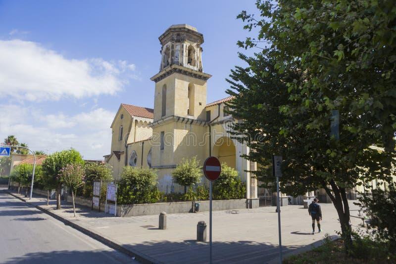 De kerk van deibagni van Santuariomaria santissima incoronata van de stad van Napels stock foto