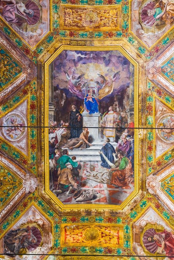 De kerk van dellaconsolazione e San Vincenzo van kwakzalversmiddelensignora Genua, royalty-vrije stock fotografie