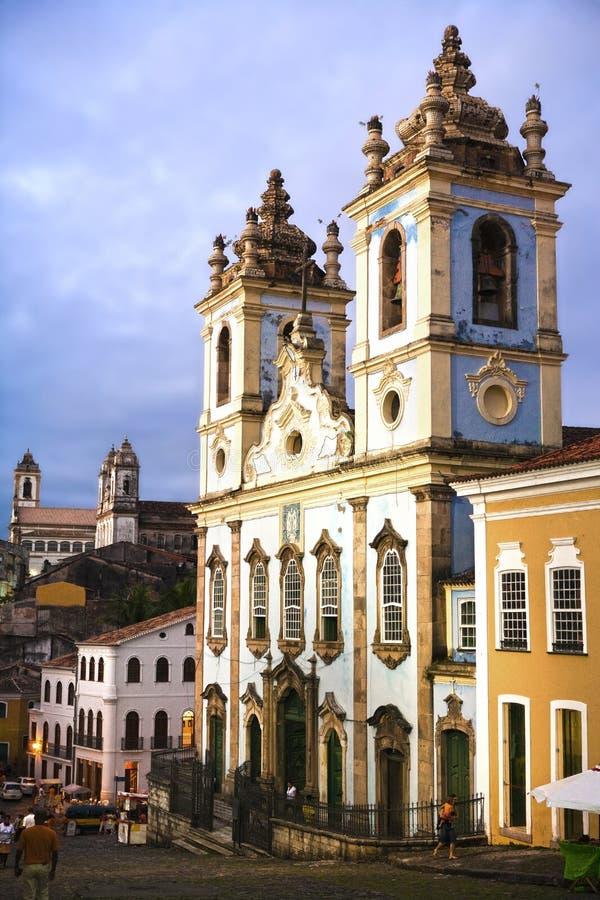 De kerk van Dospretos van Rosario in Salvador van Bahia stock foto