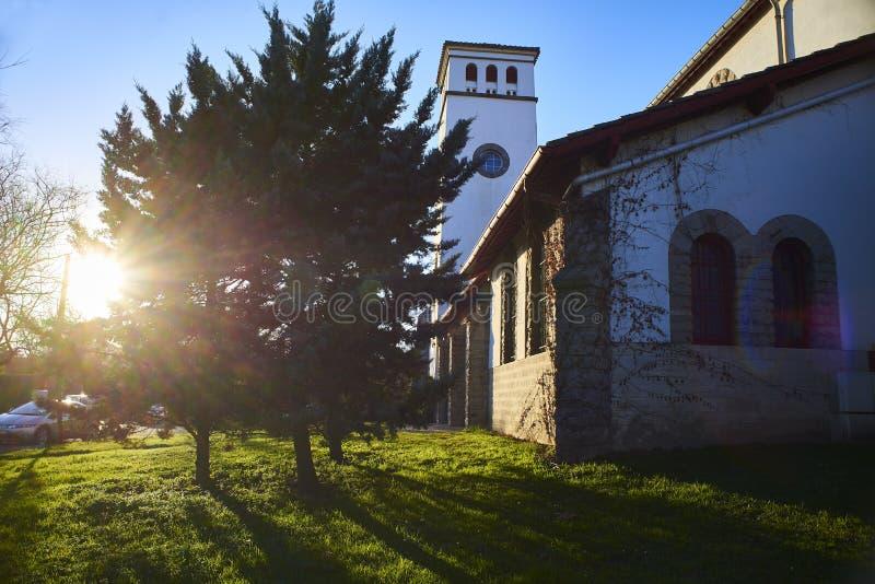De kerk van Eglisesainte Anne van Hendaye Aquitaine, de Pyreneeën Atlant royalty-vrije stock fotografie