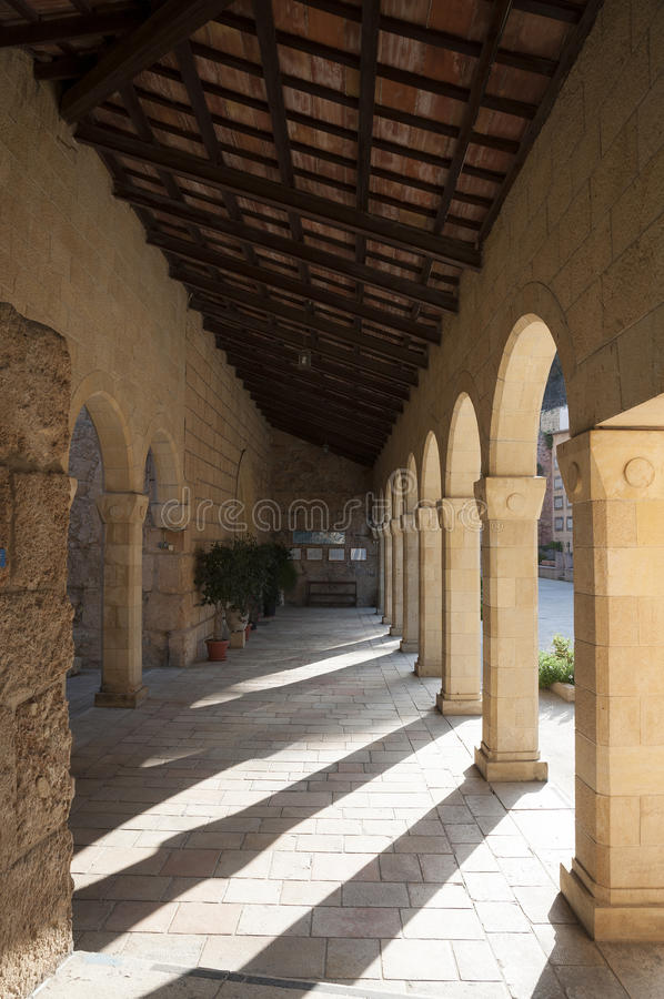 De Kerk van Einkarem, Jeruzalem stock foto's