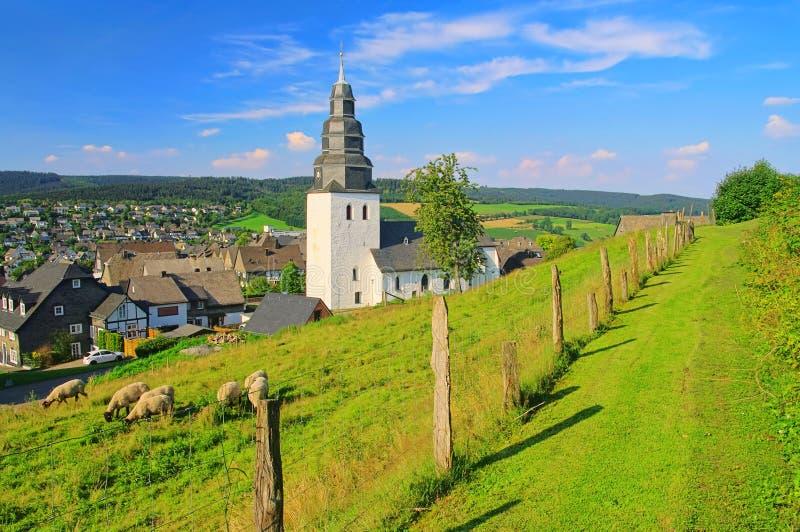 De kerk van Eversberg royalty-vrije stock fotografie