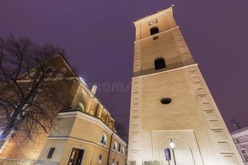 De kerk van Fara in Rzeszow stock foto