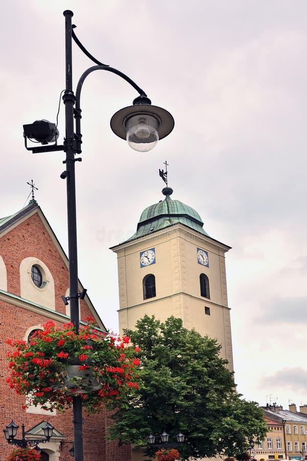 De kerk van Fara in Rzeszow royalty-vrije stock foto