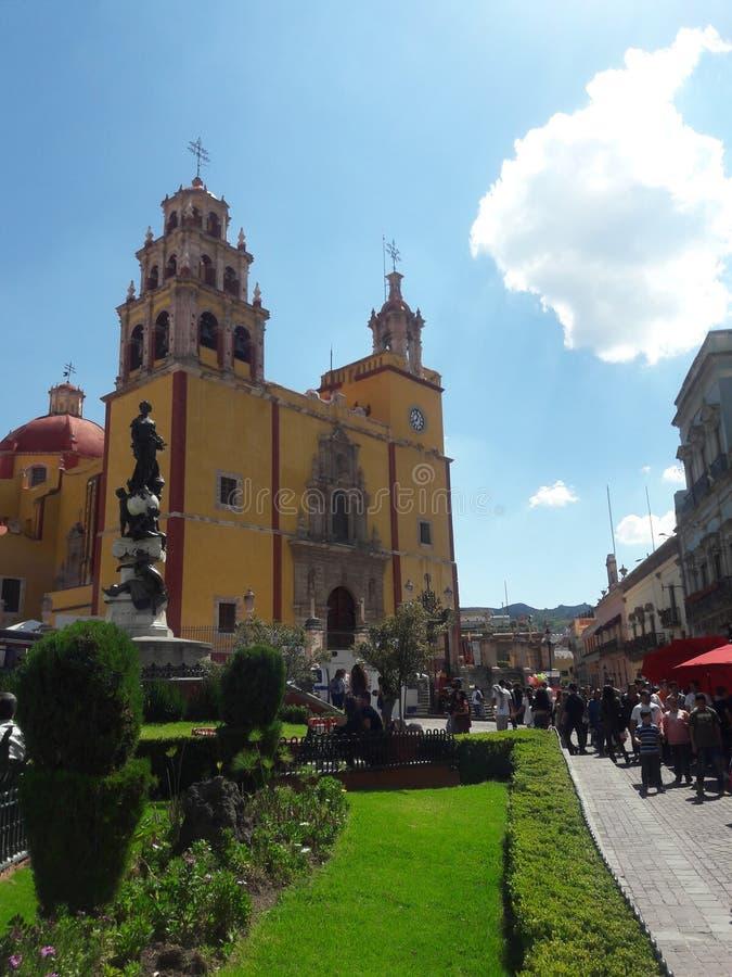 De kerk van Guanajuatomexico stock foto's