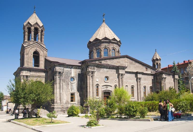 De kerk van Gyumri in Armenië stock afbeeldingen