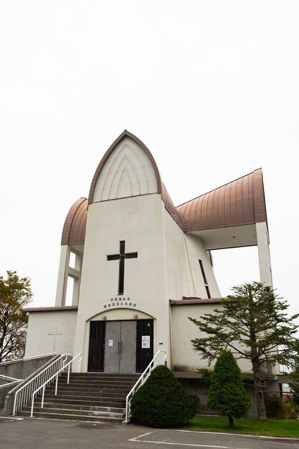 De Kerk van Hakodate St John's, in Hakodate, Hokkaido, Japan Het F royalty-vrije stock afbeeldingen