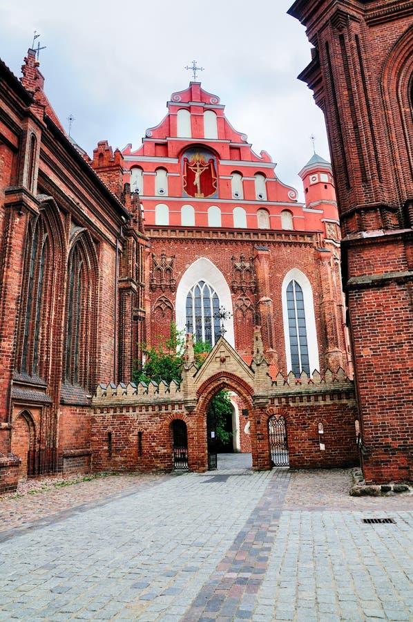 De Kerk van heilige Anna, Vilnius royalty-vrije stock afbeelding