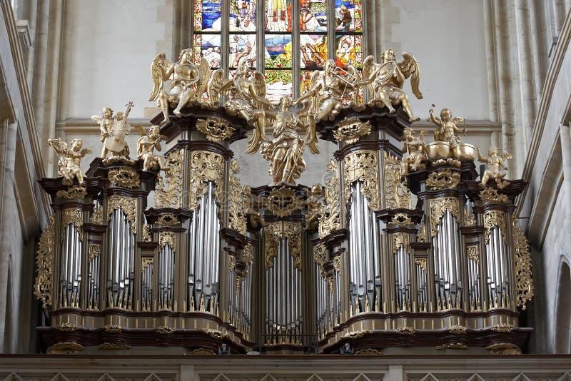 De kerk van heilige Barbara - Kutna Hora royalty-vrije stock foto's