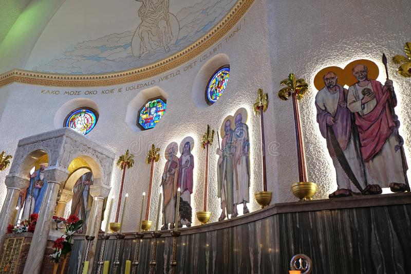 De kerk van heilige Blaise in Zagreb royalty-vrije stock foto's