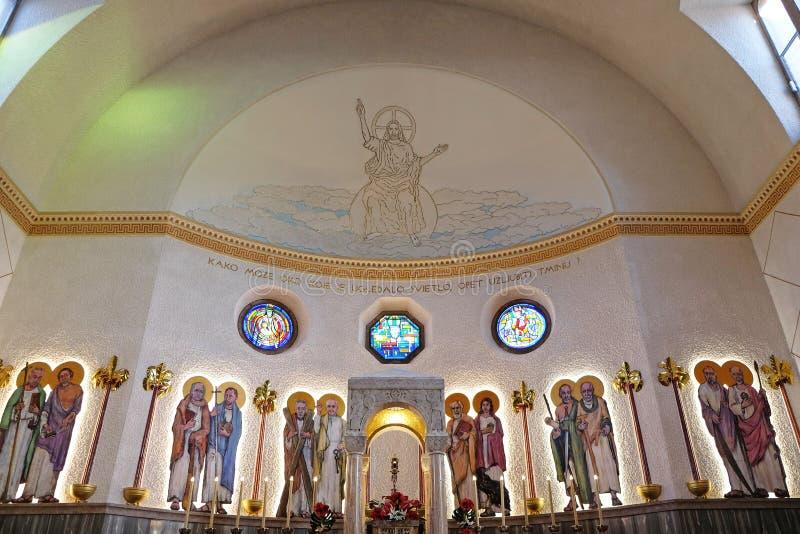 De kerk van heilige Blaise in Zagreb royalty-vrije stock fotografie