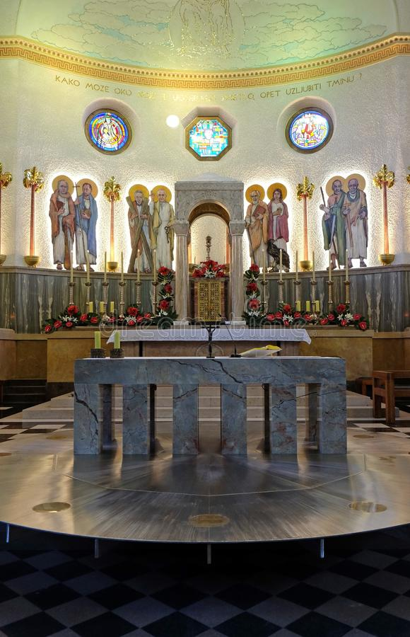 De kerk van heilige Blaise in Zagreb royalty-vrije stock afbeeldingen