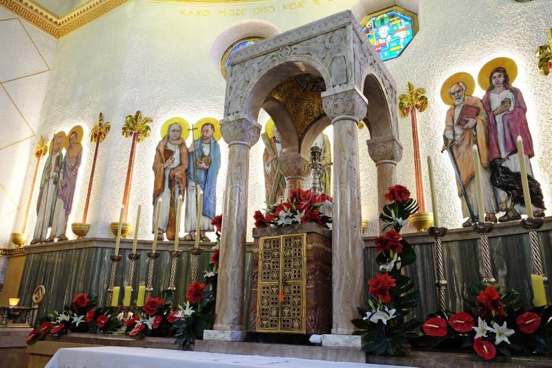 De kerk van heilige Blaise in Zagreb royalty-vrije stock foto