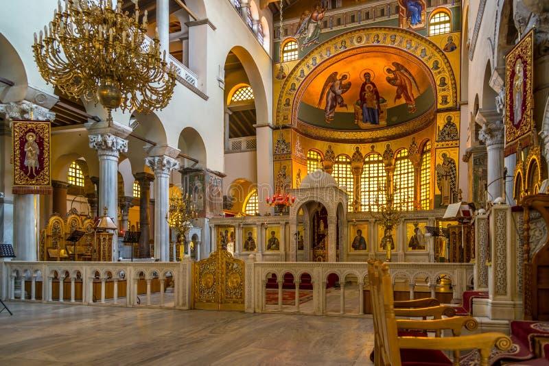 De kerk van Heilige Demetrius in Thessaloniki stock afbeeldingen