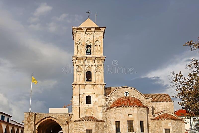 De Kerk van Heilige Lazarus, een de recent-negende eeuwkerk in Larnaca, Cyprus stock afbeelding