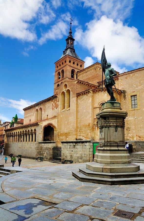 Kerk van San Martin, Segovia, Spanje royalty-vrije stock afbeeldingen