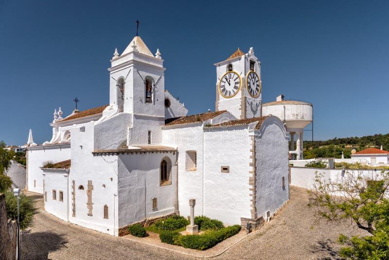 De Kerk van heilige Mary ` s van het Kasteel, Tavira, Portugal stock foto