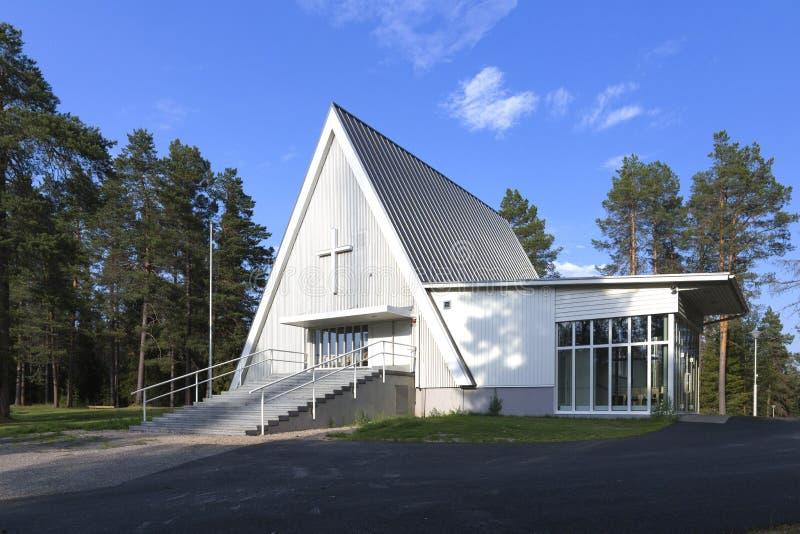 De kerk van het grensgebied stock fotografie