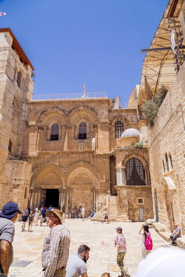 De Kerk van het Heilige Grafgewelf, Jeruzalem stock foto