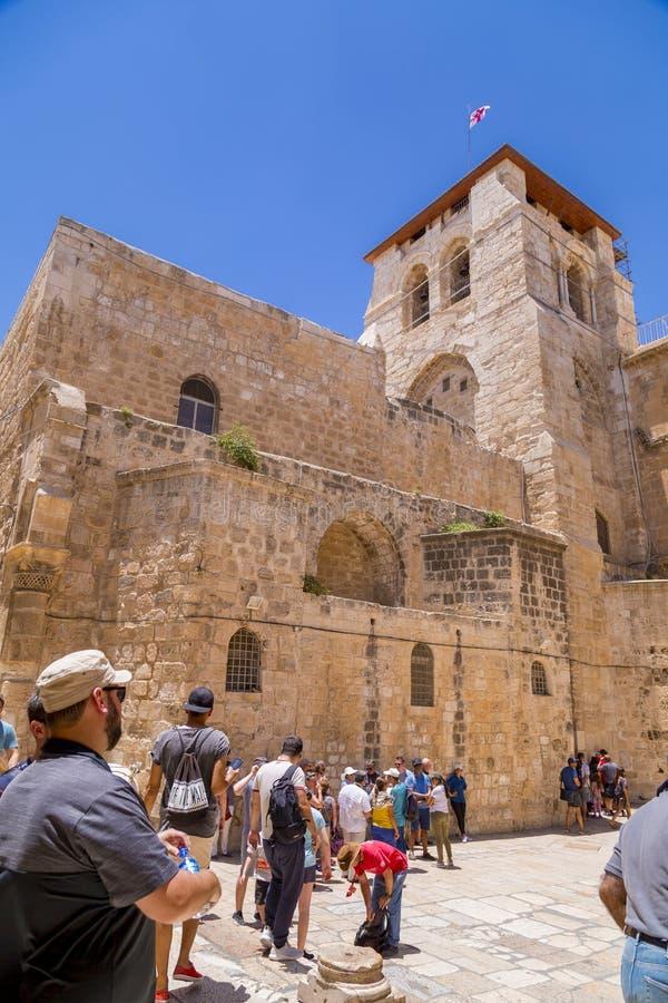 De Kerk van het Heilige Grafgewelf, Jeruzalem royalty-vrije stock fotografie