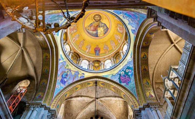 De Kerk van het Heilige Grafgewelf - Jeruzalem stock afbeeldingen
