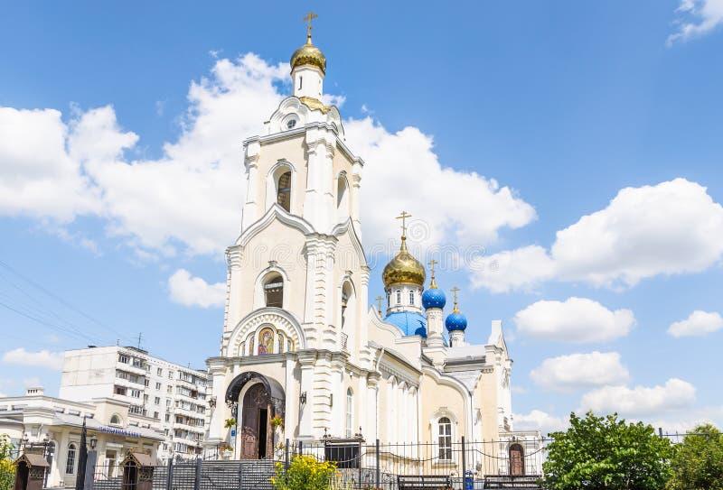 De kerk van het Kazan pictogram van de Moeder van God rostov-op-trekt binnen aan royalty-vrije stock afbeeldingen