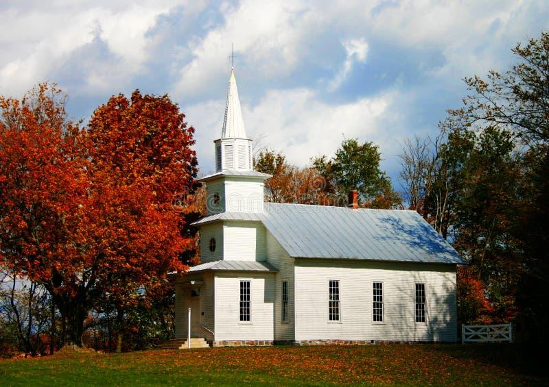 De Kerk van het land stock foto