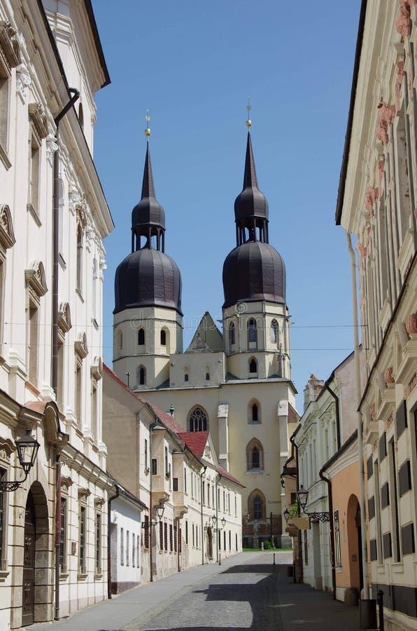De kerk van het Saint Nicolas in Trnava royalty-vrije stock foto's