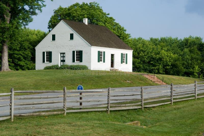 De Kerk van het slagveld stock fotografie