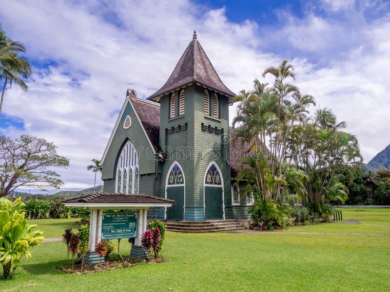 De Kerk van Hui ` van Wai` oli ia in Hanalei, Kauai royalty-vrije stock foto