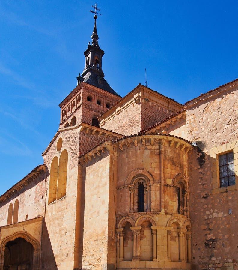 De Kerk van Iglesiade San MartÃn, Segovia, Spanje royalty-vrije stock afbeelding