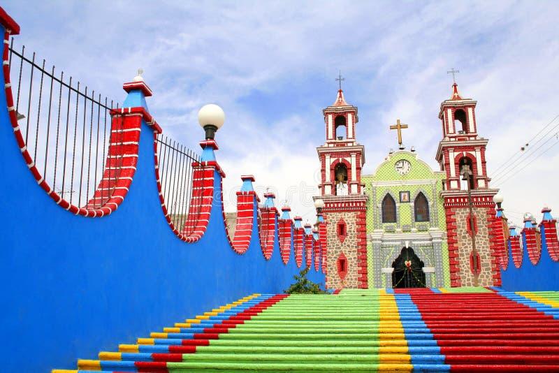 De kerk van Ixtacuixtla royalty-vrije stock foto