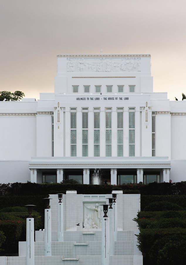 De Kerk van Jesus Christ van de Tempel van Laie Hawaï van laatstgenoemde-Dagheiligen royalty-vrije stock afbeelding