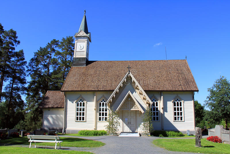 De Kerk van Jokioinenlacework royalty-vrije stock afbeeldingen