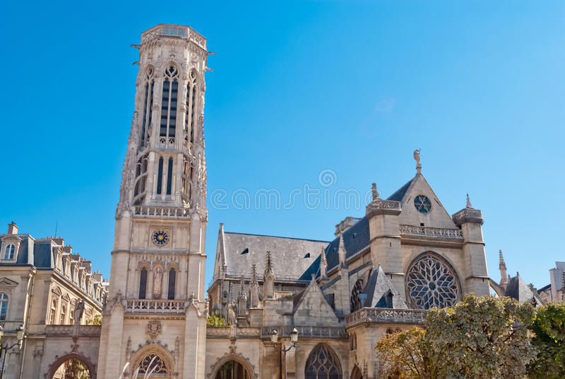 De Kerk van l'Auxerrois van heilige Germain stock foto