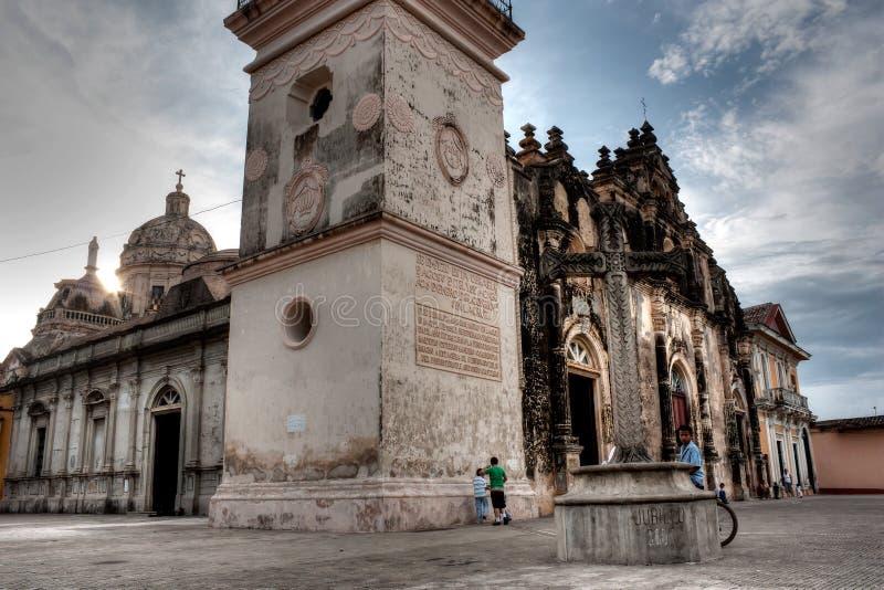 De Kerk van La Merced in Granada, Nicargua stock fotografie