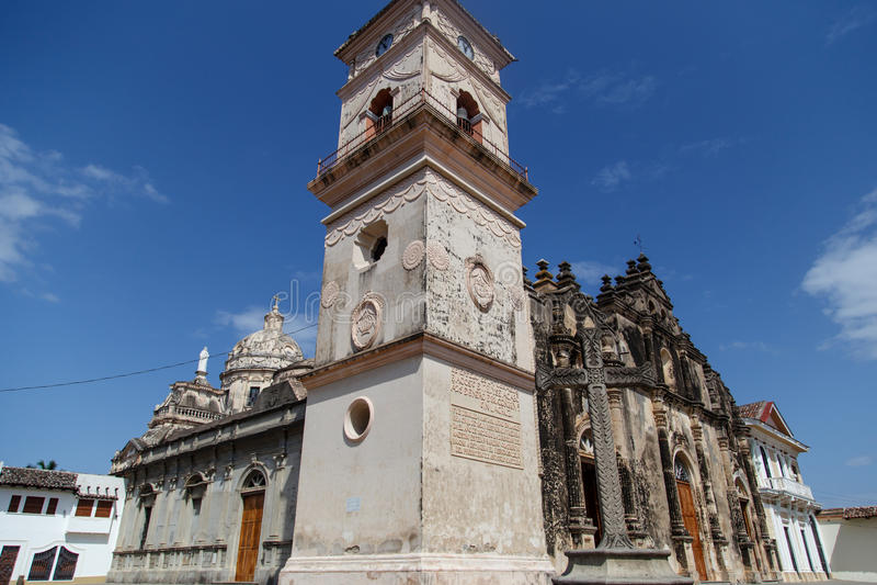 De kerk van La Merced van Granada, Nicaragua royalty-vrije stock foto's